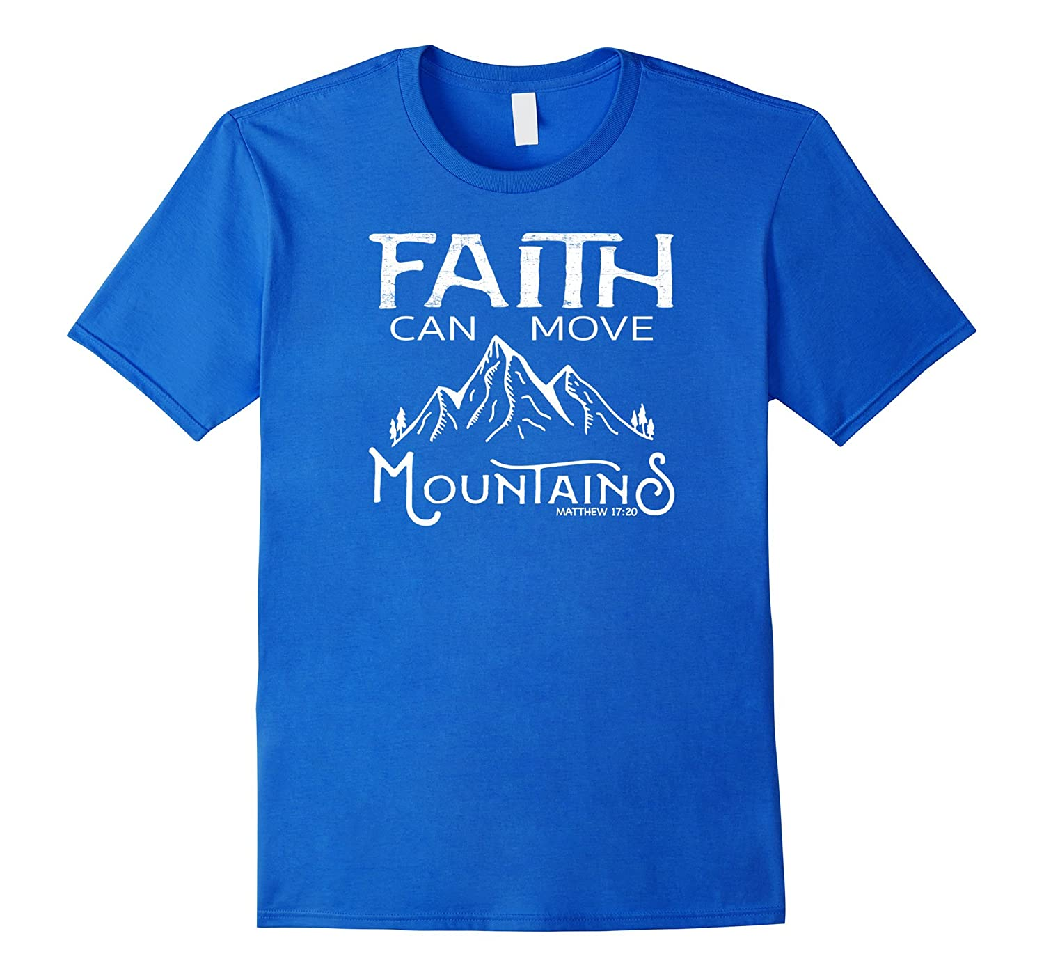 Faith Can Move Mountains Distressed Tshirt Design- TPT