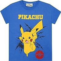Pokemon T-shirt för pojkar Pikachu Bolt barn blå gamer present topp