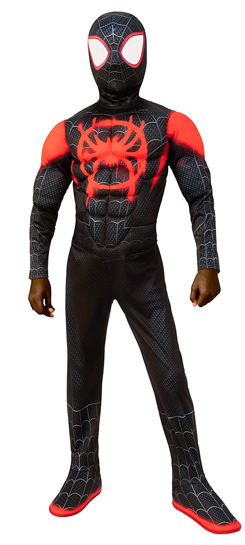 Spider-Man: Into The Spider-Verse Child's Deluxe Mile Morales Spider-Man Costume, Medium
