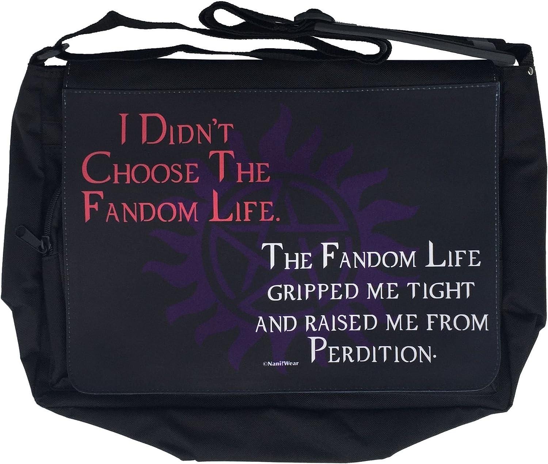 NaniWear Supernatural Large Messenger/Laptop Bag Didn't Choose the Fandom Life