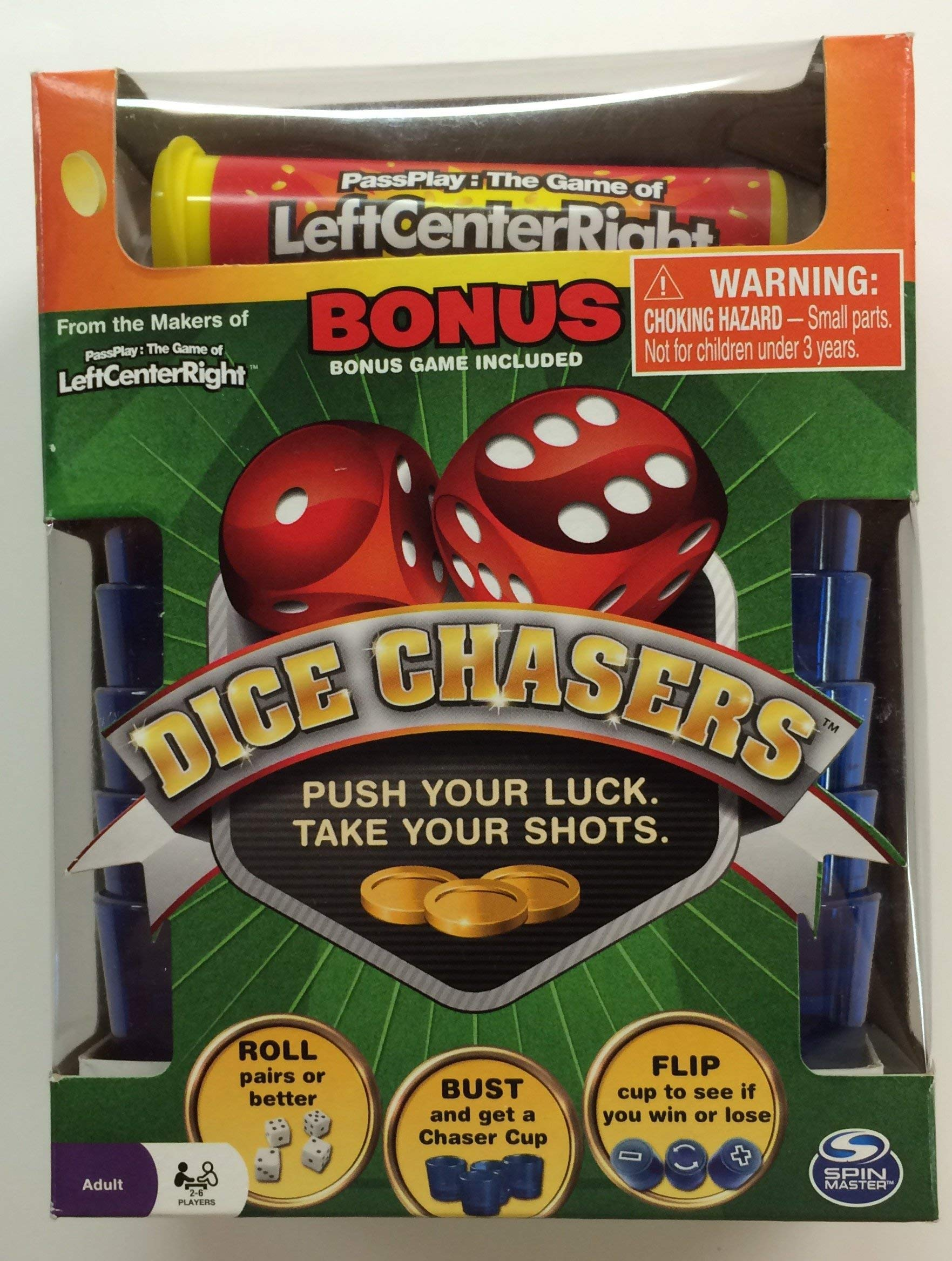 Dice Chasers with Bonus Left Center Right Game by Spin Master