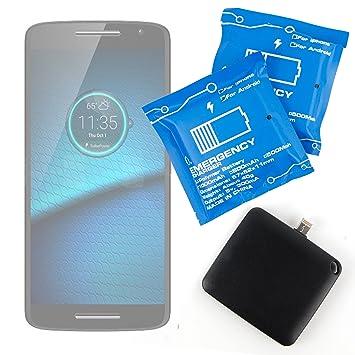 DURAGADGET Batería de Emergencia desechable para Motorola Droid MAXX 2, Motorola Droid Turbo 2 /