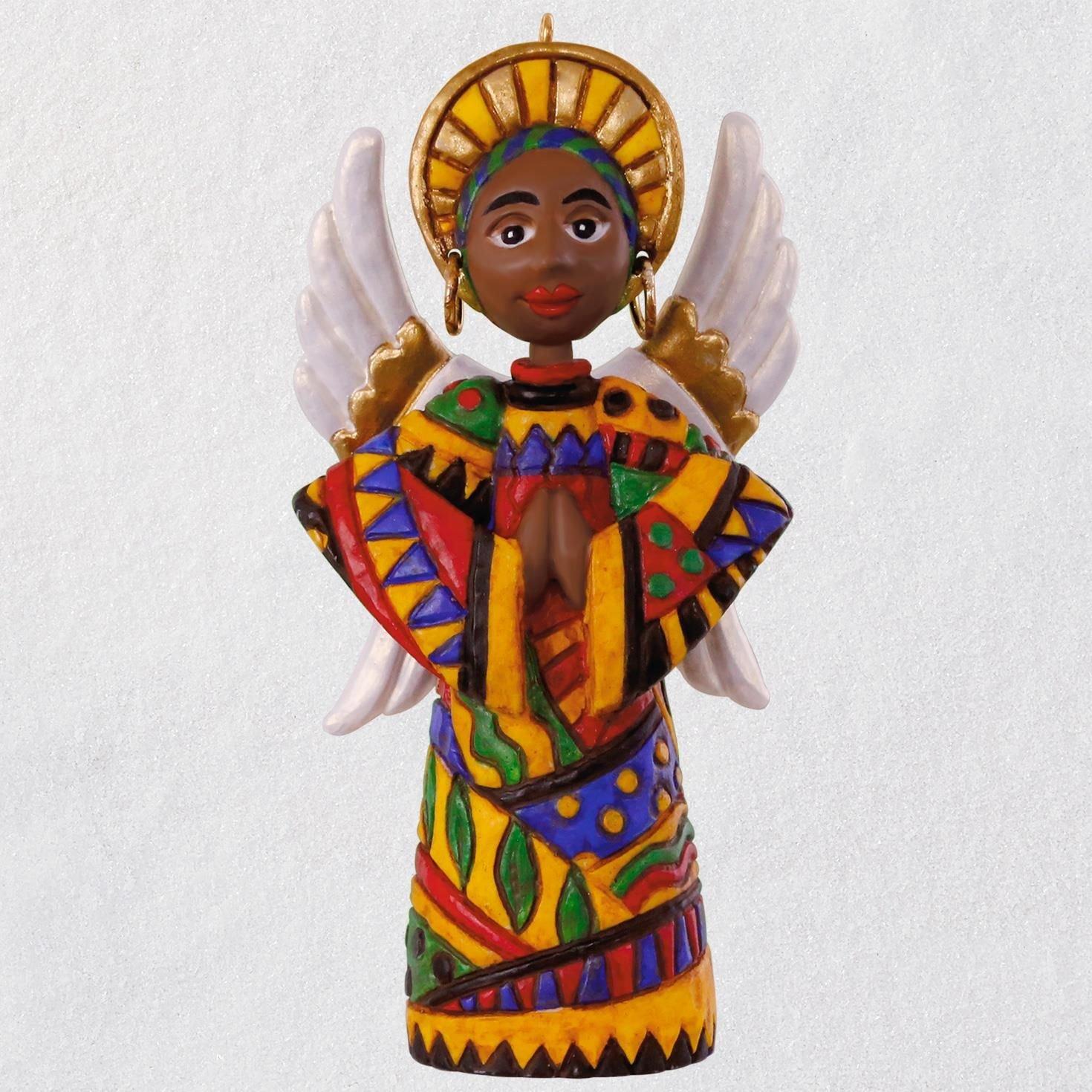 Hallmark Keepsake Christmas Ornament 2018 Year Dated, African American, Angel of Hope