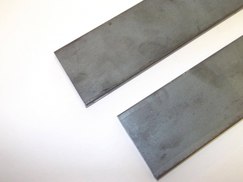 2 x Mild Steel Flat Bar Black Finish 500mm Length 40mm Width 3mm Thick Innovo
