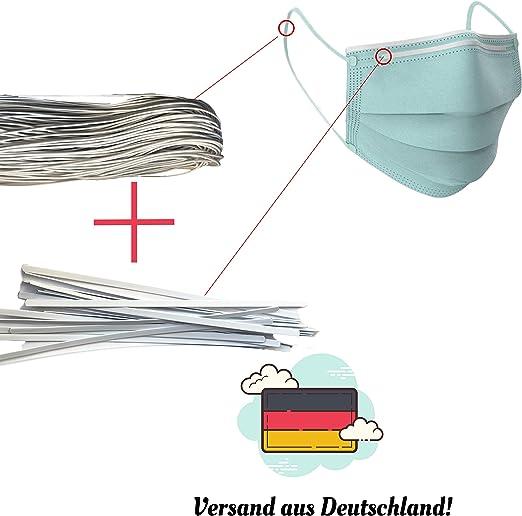 Set 25 B/ügel und 3mm Gummiband dok protektor hochwertige Nasenb/ügel