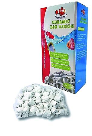 SuperAqua - Bioanillos de cerámica para acuario, anillos de cerámica, filtro para todos los tipos de acuarios y peceras: Amazon.es: Productos para mascotas