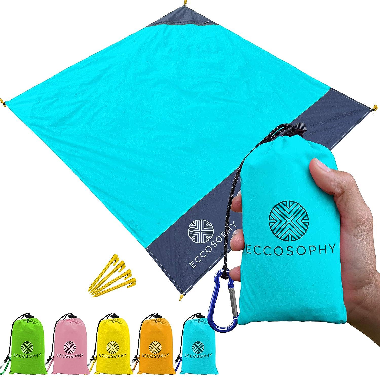 Amazon.com: ECCOSOPHY - Manta de playa de bolsillo, ligera ...