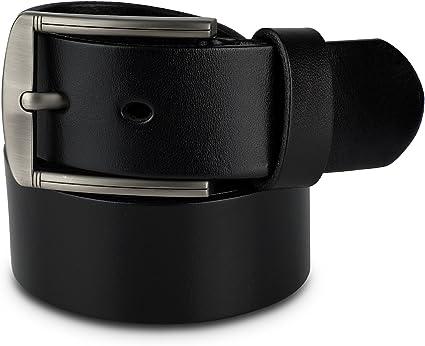 Mens Belt - Men's Belts - Adjustable Leather Belt for Men - Black, Size 40  at Amazon Men's Clothing store