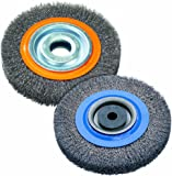Walter 13B0100 Stringer Bead Wheel Brush - 10 in. Orange Abrasive Wheel Brush with Crimped Wires, Round Hole, Carbon…