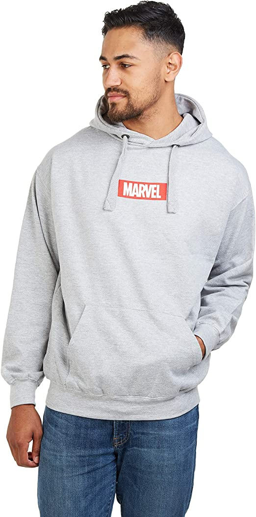 Marvel Mens Core Logo Long Sleeve Hoodie