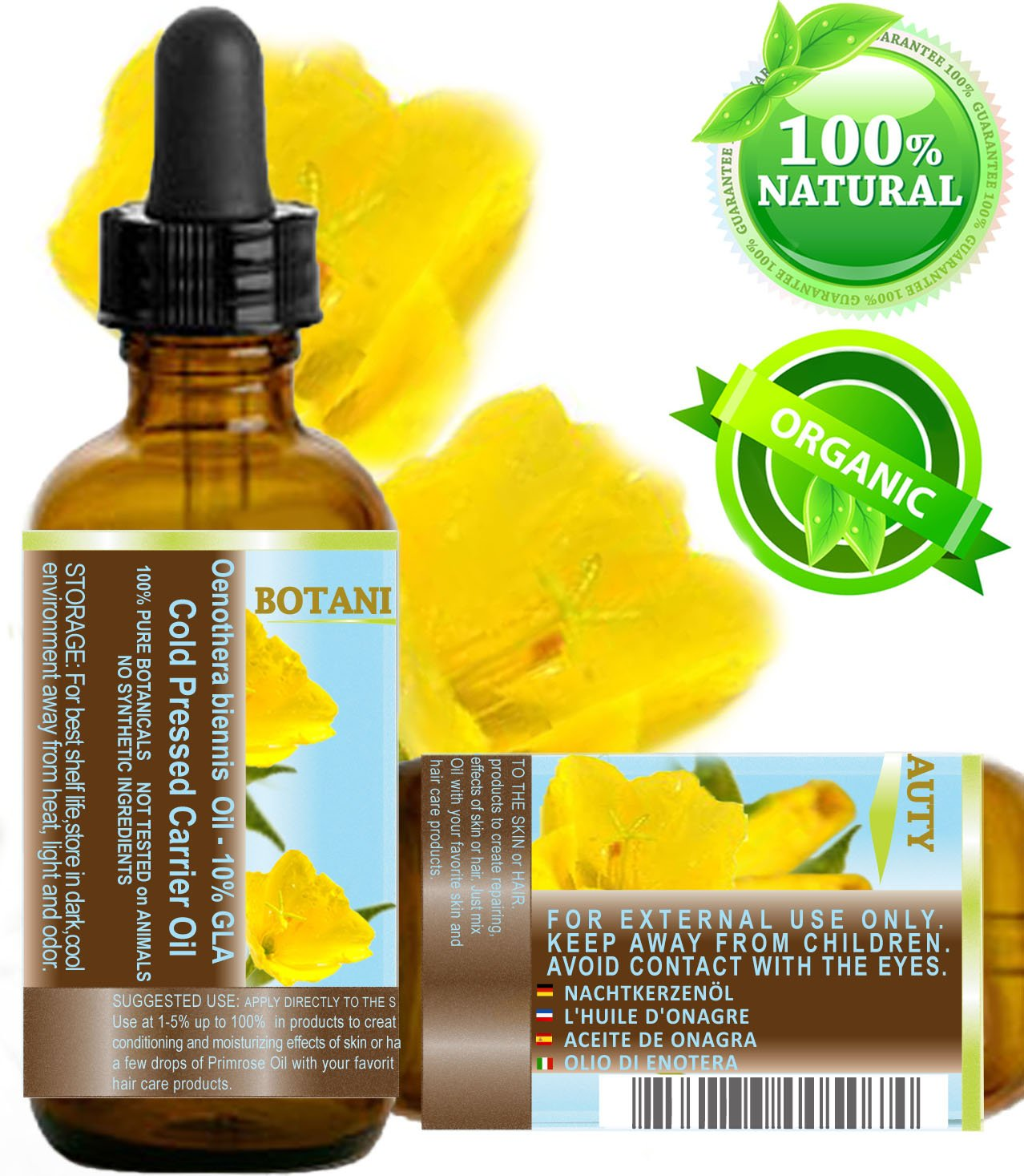 100% Pure / Natural / Undiluted / Refined / Cold Pressed Carrier Oil. 1 Fl.oz.- 30 ml. Rich antioxidant to rejuvenate and moisturize the skin and hair.