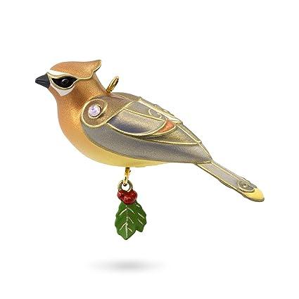 hallmark keepsake 2017 cedar waxwing mini christmas ornament - Amazon Christmas Ornaments