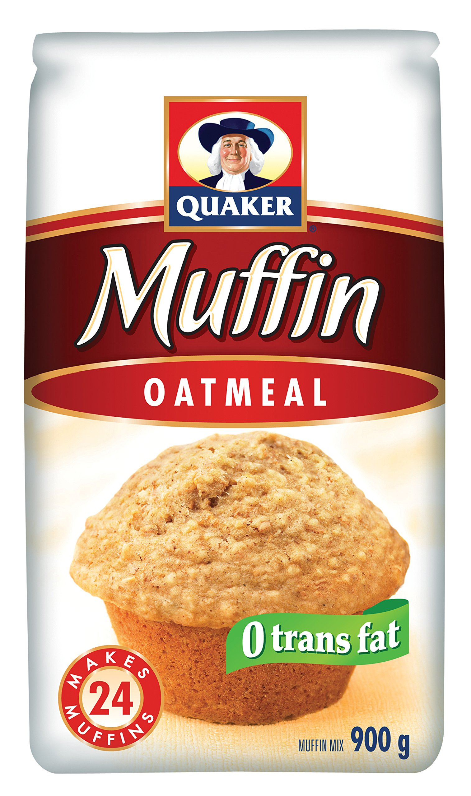 Quaker Muffin Mix Oatmeal 900 grams 24 muffins - Imported from Canada