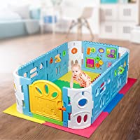 EVA Safety Mat And Baby Playpen with Door - Rectangle Interactive Play Room 1.6 x 1m