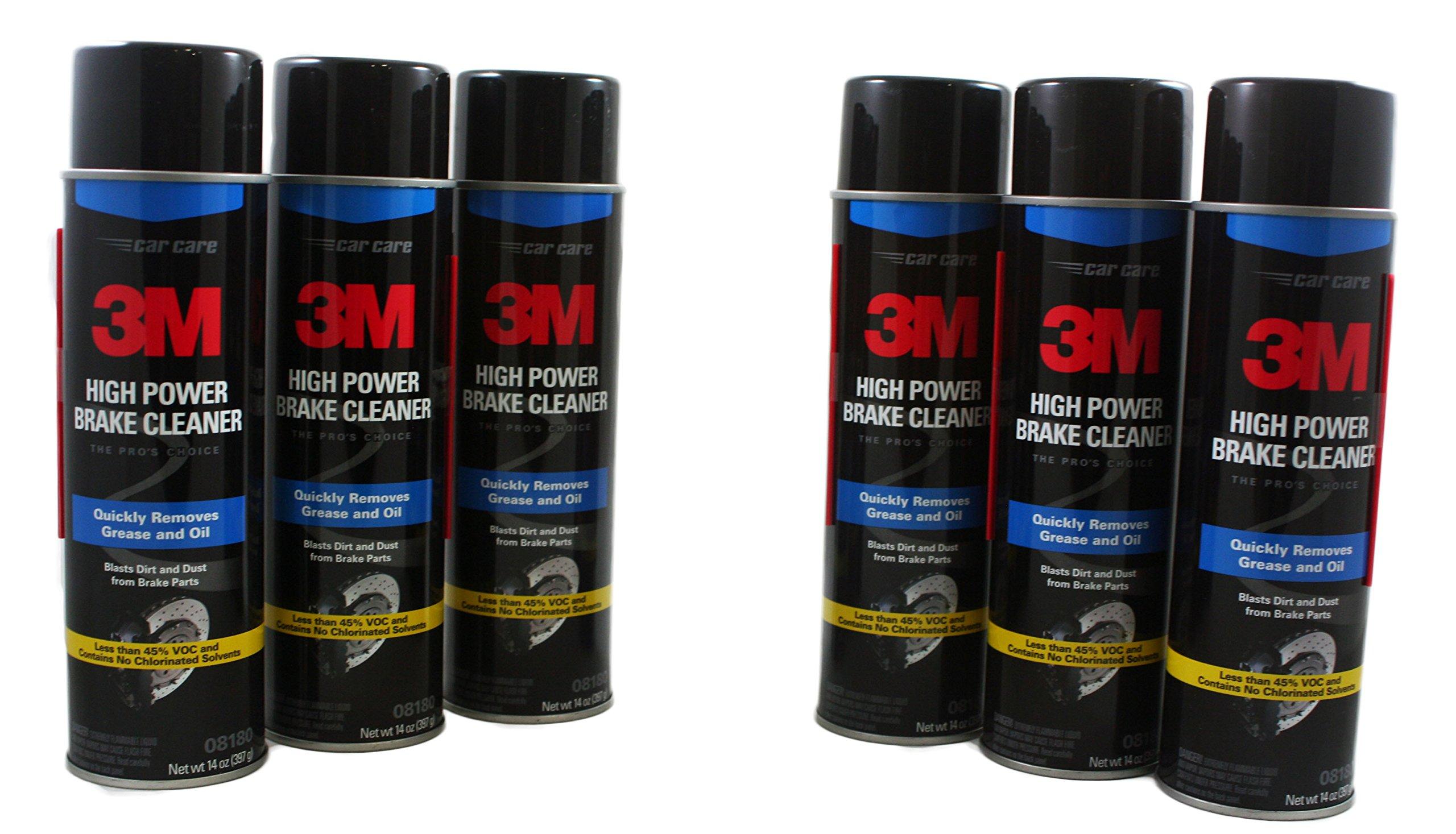 3M 8180 High Power Brake Cleaner 6 pack