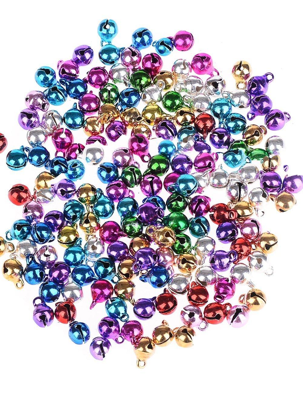 Doyeemei multicolore Jingle Bell/Small Bell/Mini Bell/Tinkle campana per decorazioni di Natale, 100pcs