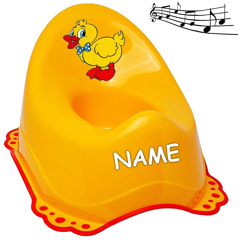 gelb /_ Tiere Anti RUTSCH Spritzschutz rutschfe.. alles-meine.de GmbH Musik /& Sound Melody Name T/öpfchen // Nachttopf // Babytopf Ente /_ inkl Bieco mit gro/ßer Lehne