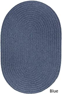 product image for Rhody Rug Woolux Wool Oval Braided Rug (8' x 11') - 8' x 11' Oval Blue