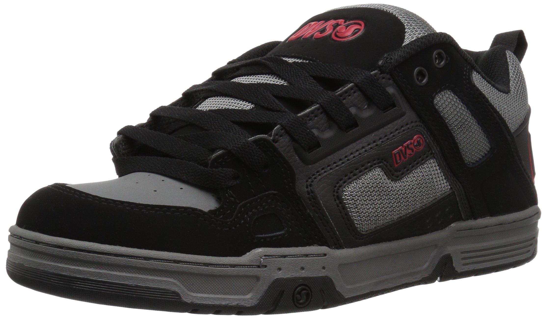 DVS Men's Comanche Skate Shoe, Black Charcoal Leather Nubuck, 7.5 Medium US