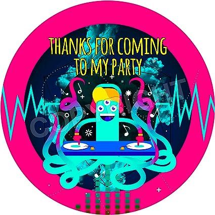Amazon com: Music DJ Sticker Labels (24 Stickers, 1 8'' Inch