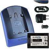 Batterie + Chargeur (USB/Auto/Secteur) pour Sony NP-FV50 / DCR-PJ../SR../SX.. // DEV-3 5 30 50 50V // HDR-CX../PJ../XR.. // NEX-VG.. v. liste!