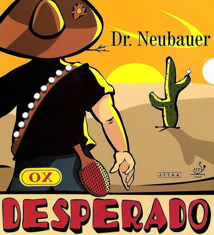 Dr Neubauer Desperado ( Long Pimple )、ブラック、Ox +無料接着シート B07B6NHV14