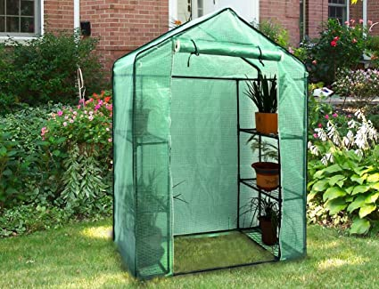 Swell Green House Kit Walk In Greenhouse Small Outdoor Backyard Garden Plants Flowers Growing Shelter Gardening 6 Shelf Stands Home Interior And Landscaping Ologienasavecom