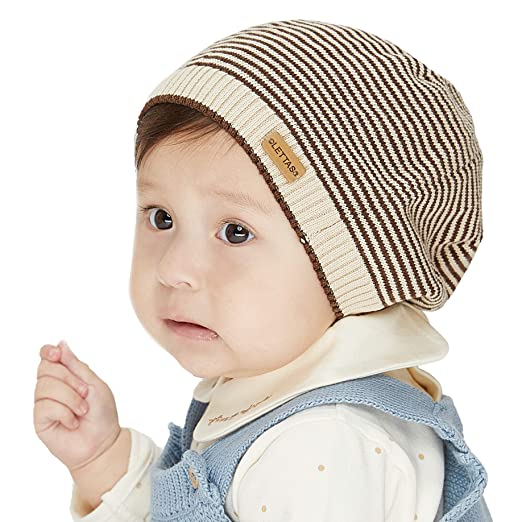 Amazon.com  LETTAS Infant Baby Boys Girls Fall Winter Beanie Soft ... d6232ebe38c