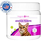 Cat Probiotics - Best Probiotics for Cats with Diarrhea - All Natural Feline Nutritional Powder for Gas, Vomiting, & Skin Allergies - Made in the USA