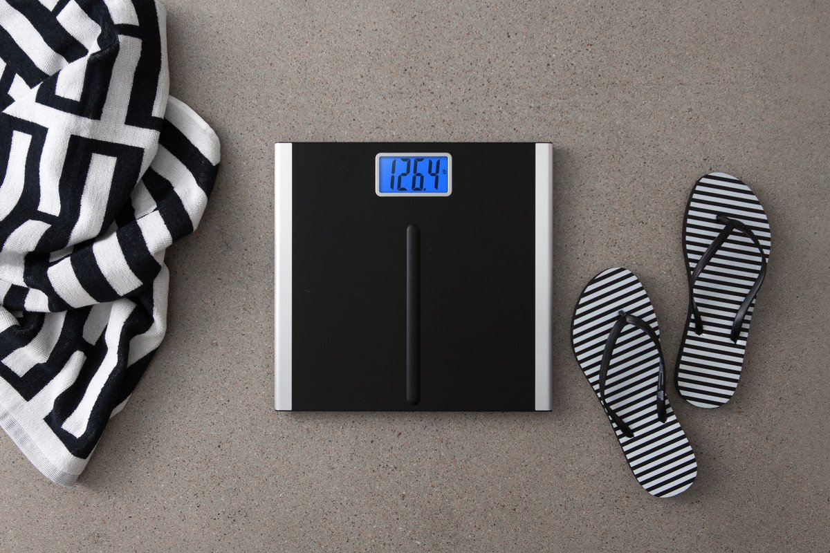 EatSmart Precision Premium Digital Bathroom Scale with 3.5'' LCD and ''Step-On'' Technology