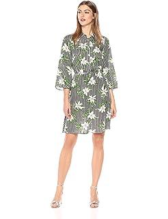 0a3b03b516c9 Amazon.com: Wild Meadow Women's Floral Shirtdress S Blue Multi: Clothing