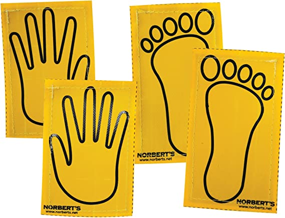 Norberts Athletic Products GF-145 Sticky Vinyl Hands and Feet Random