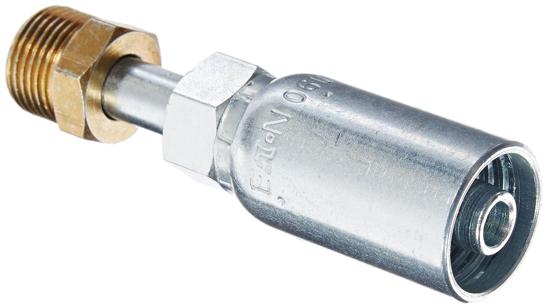 EATON Weatherhead Coll-O-Crimp 06E-B06 Inverted Male Swivel Straight Fitting AISI//SAE 12L14 Carbon Steel 3//8 Tube Size 3//8 Hose ID