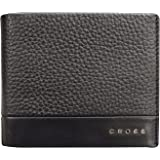 CROSS Men's 100% Genuine Leather ID Wallet with Credit Card Slot - Nueva FV Range - Black (AC028366-1)