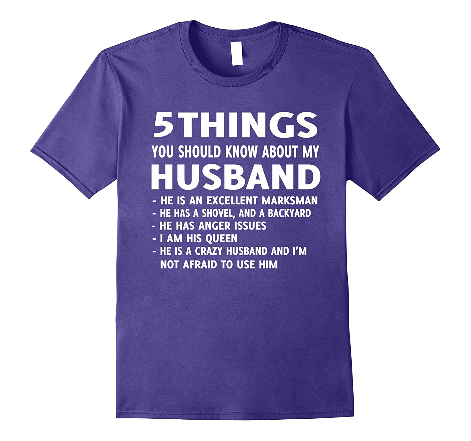 5 Things You should Know About My Husband T-Shirt-FL