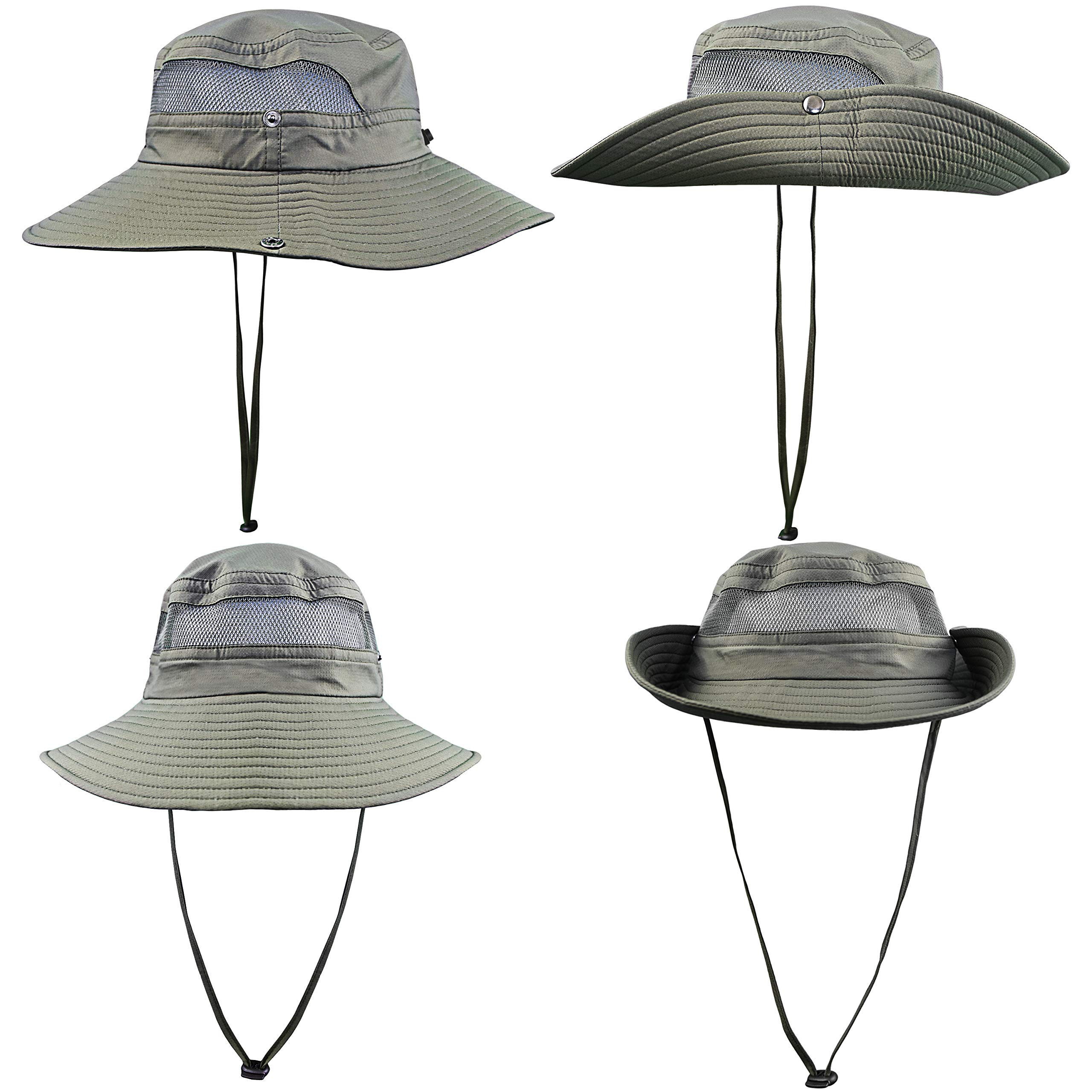 Fishing Hat Safari Cap with Sun Protection for Men and Women (Army Green) by GearTOP (Image #7)
