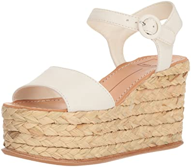 a2fdca5628 Dolce Vita Women's DANE Wedge Sandal, Off White Leather, 9.5 M US: Buy  Online at Low Prices in India - Amazon.in