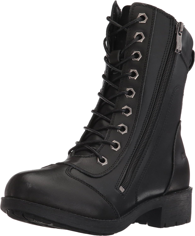 Zipper Biker Black Work Boot