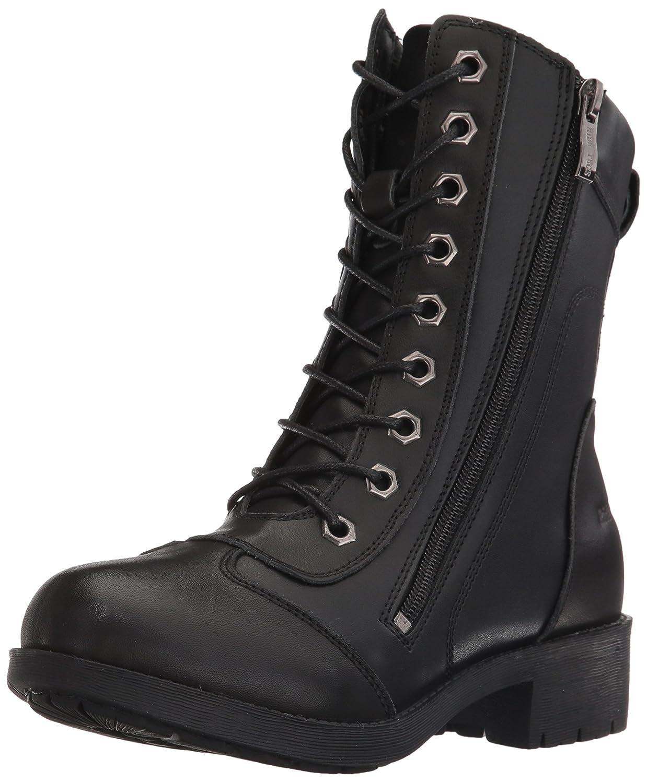 "Ride Tec Women's 8650 8"" Zipper Biker Black Work Boot"