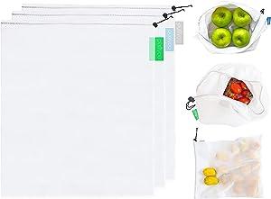 purifyou Set of 3 Premium Reusable Produce Bags | 3pc Large, 12x14
