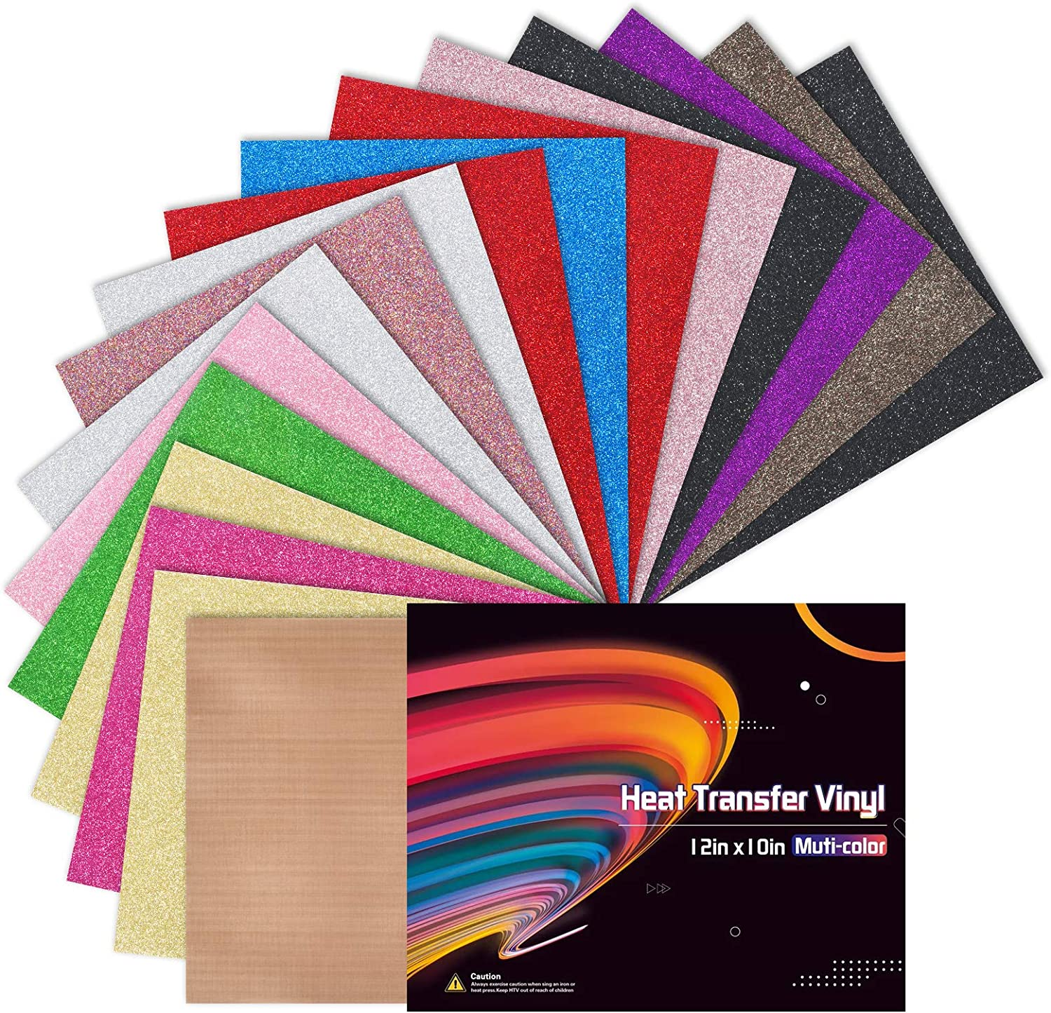 12X10 Glitter HTV Vinyl Valentines Day 12 Sheets Iron on Vinyl for T-Shirt Fabric Pattern,PU Heat Transfer Vinyl Bundle for Clothes Bag Hat Pillow Crafts Gift