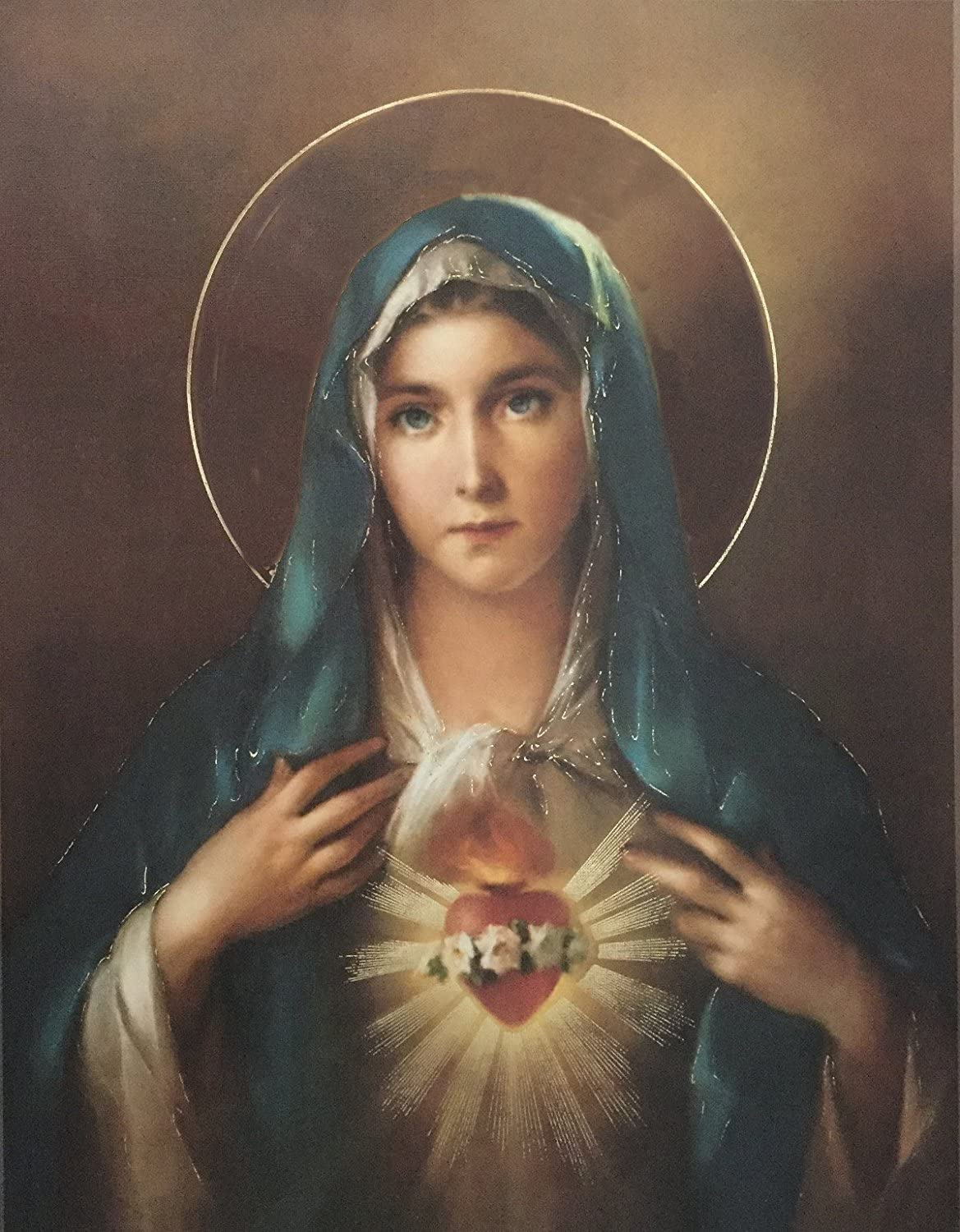 """Immaculate Heart of Mary Poster, 13"""" x 17"""" - MADE IN ITALY"""