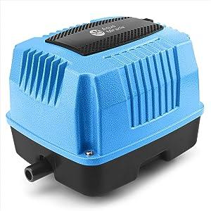 AquaMiracle Super Powerful Linear Air Pumps AP40, AP80, AP160 for Pond Areation, Septic Aerator, Air Pump for Hydroponics, Aquarium, Fish Farm, Waste Treatment, Seafood Restaurant