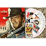 Spaghetti Western Playing Cards (Poker Deck 54 Cards All Different) Vintage Western Movie Poster Wild West
