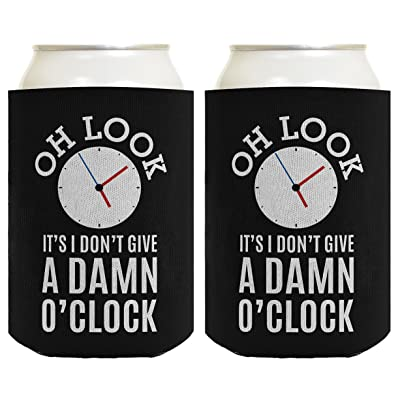 Funny Retirement Gifts for Men Oh Look It's I Don't Give a Damn O'Clock Retirement Gifts for Coworker Gag Gifts Retired Coworker 2 Pack Can Coolie Drink