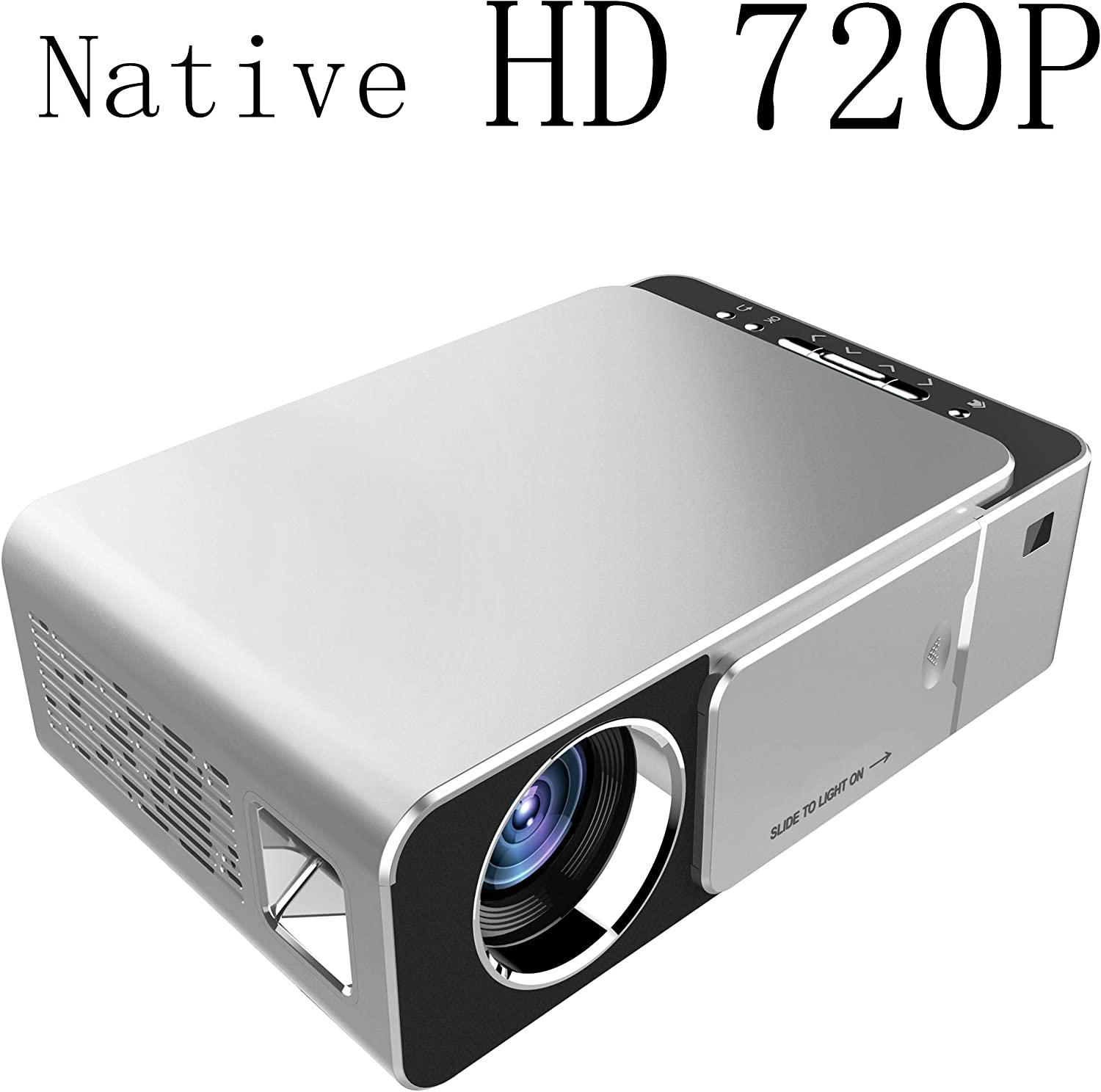 Mcwell Mini Projector,2500 Lumens LED Portable Full HD Multimedia Home Theater Video Projector 1080P Support for Home Cinema,Movie,Game,TV,Laptop,Smartphone