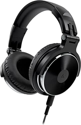 KitSound KSNDJBK Kitsound KSDJ DJ Over-Ear Headphones Compatible with Smartphones, Tablets and MP3 Devices – Black