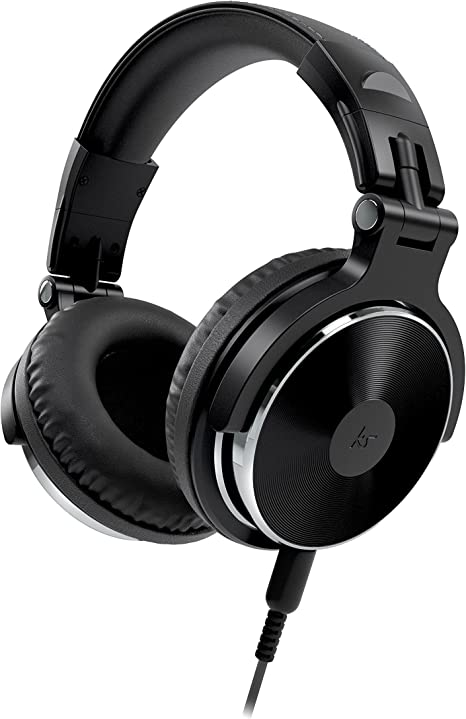 Kitsound DJ 2 Over Ear Headphones Compact Lightweight Foldable with In Line Microphone Compatible with iPhone, iPad, Samsung and Android Devices