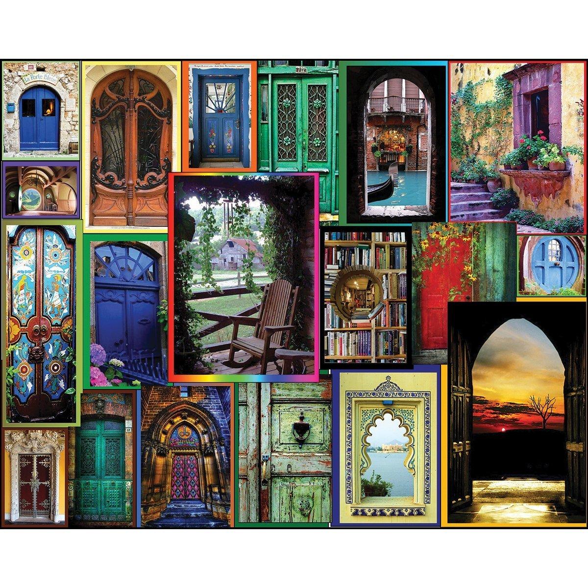 amazon com white mountain puzzles doors of the world 550 piece