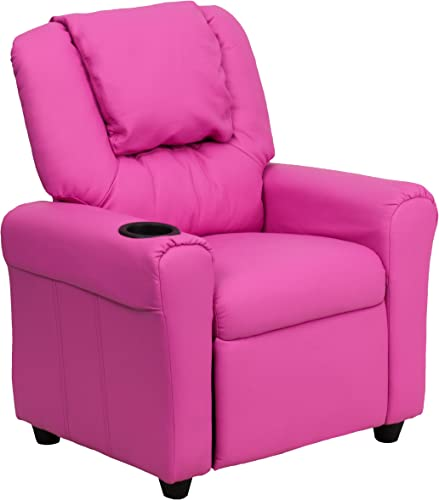 My Friendly Office MFO Contemporary Hot Pink Vinyl Kids Recliner